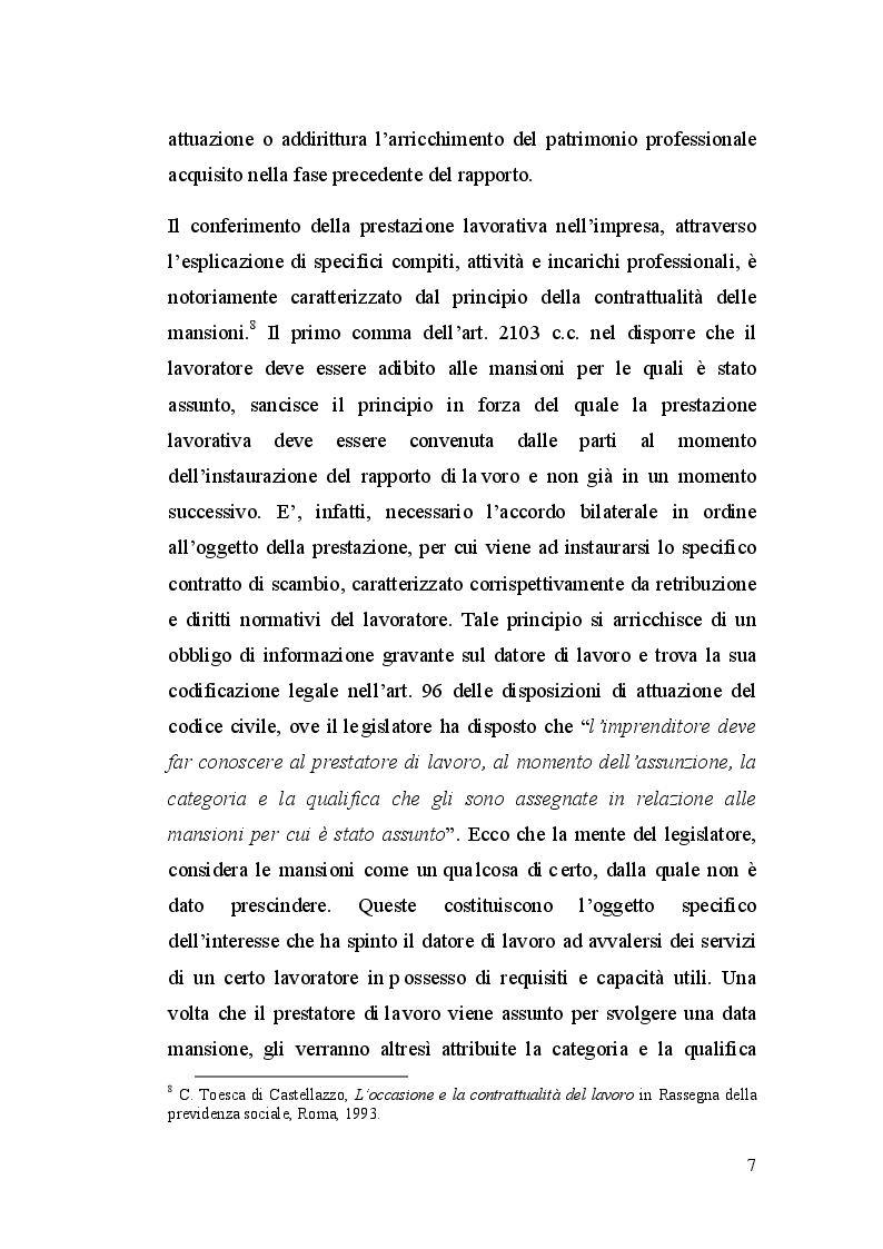 Anteprima della tesi: La dequalificazione professionale, Pagina 6
