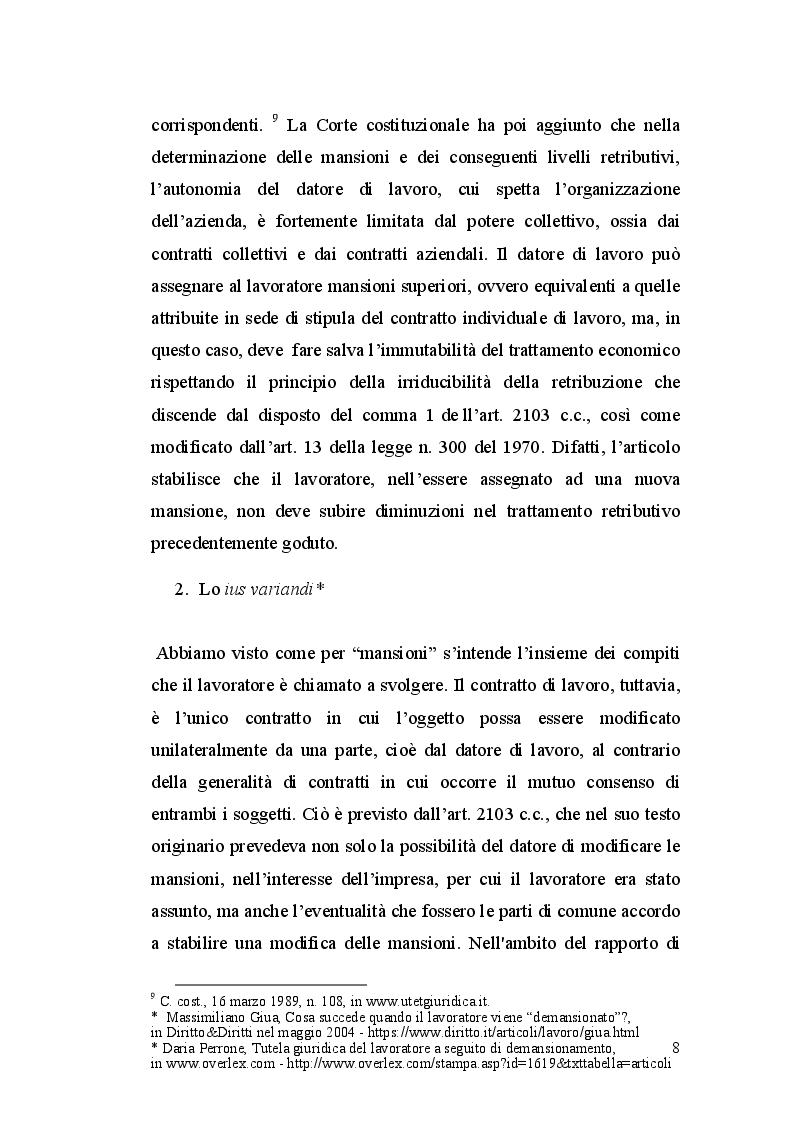 Anteprima della tesi: La dequalificazione professionale, Pagina 7
