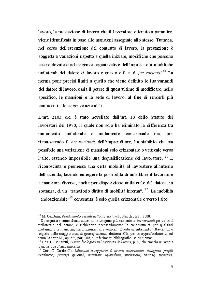Anteprima della tesi: La dequalificazione professionale, Pagina 8