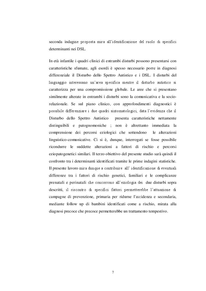 Anteprima della tesi: Fattori di Rischio Materni e Fetali nel Disturbo dello Spettro Autistico a Confronto con Altri Disturbi di Sviluppo, Pagina 5