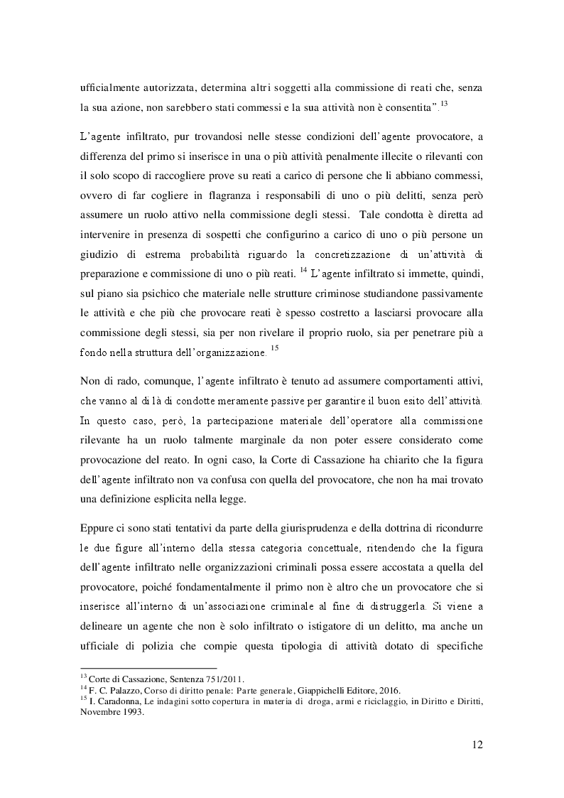 Estratto dalla tesi: L'agente sotto copertura dall'istituzione alle prospettive di contrasto alla corruzione