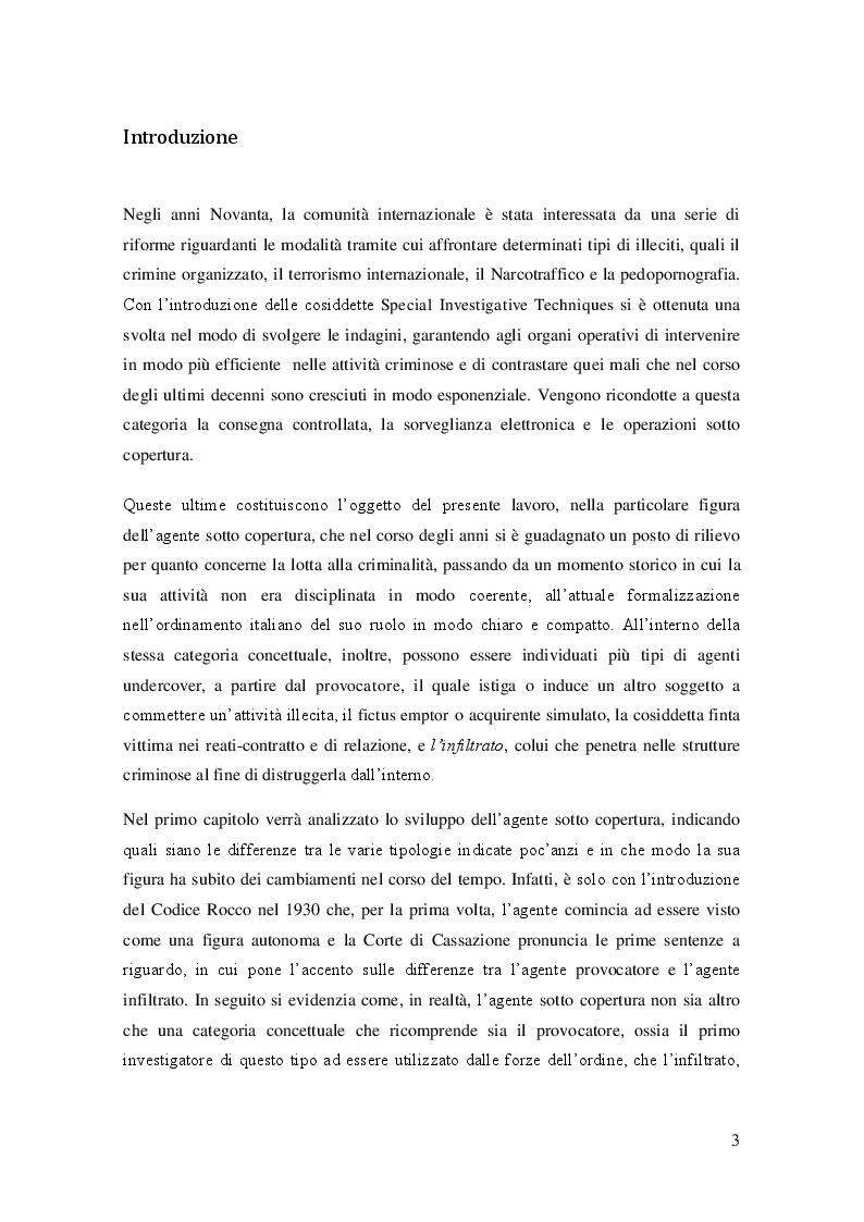 Anteprima della tesi: L'agente sotto copertura dall'istituzione alle prospettive di contrasto alla corruzione, Pagina 2