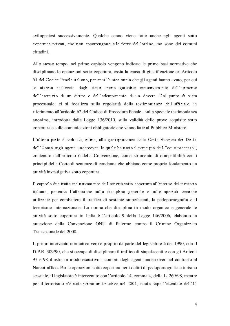 Anteprima della tesi: L'agente sotto copertura dall'istituzione alle prospettive di contrasto alla corruzione, Pagina 3