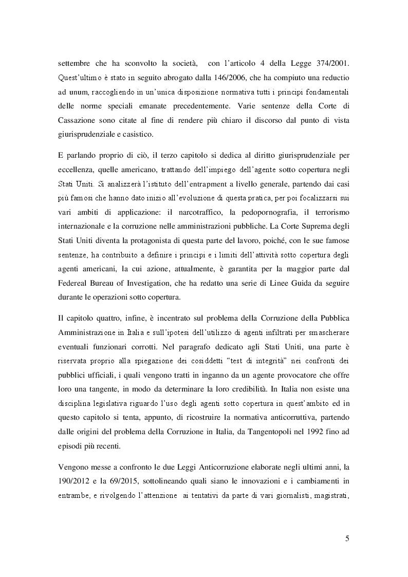 Anteprima della tesi: L'agente sotto copertura dall'istituzione alle prospettive di contrasto alla corruzione, Pagina 4