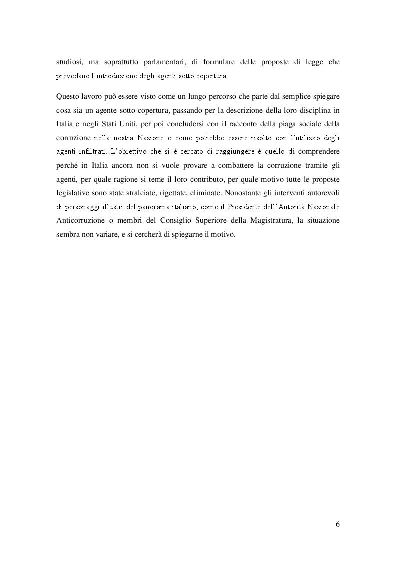 Anteprima della tesi: L'agente sotto copertura dall'istituzione alle prospettive di contrasto alla corruzione, Pagina 5