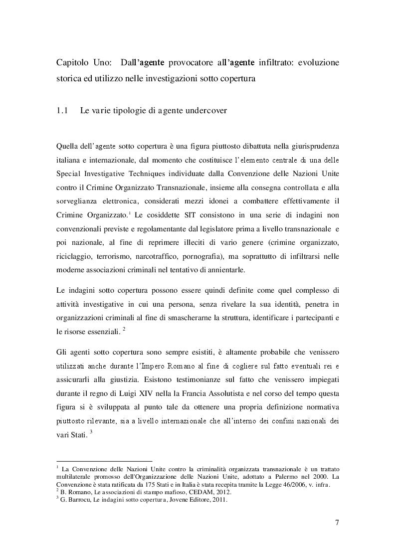 Anteprima della tesi: L'agente sotto copertura dall'istituzione alle prospettive di contrasto alla corruzione, Pagina 6