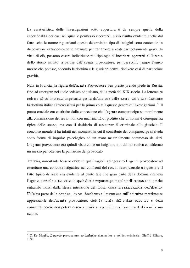 Anteprima della tesi: L'agente sotto copertura dall'istituzione alle prospettive di contrasto alla corruzione, Pagina 7