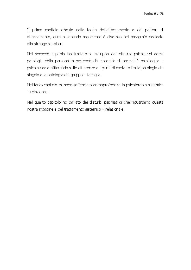 Anteprima della tesi: Pattern di attaccamento, disturbi psichiatrici e la psicoterapia sistemico relazionale, Pagina 4