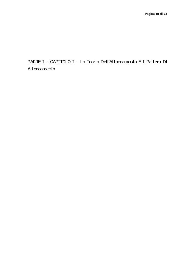 Anteprima della tesi: Pattern di attaccamento, disturbi psichiatrici e la psicoterapia sistemico relazionale, Pagina 5