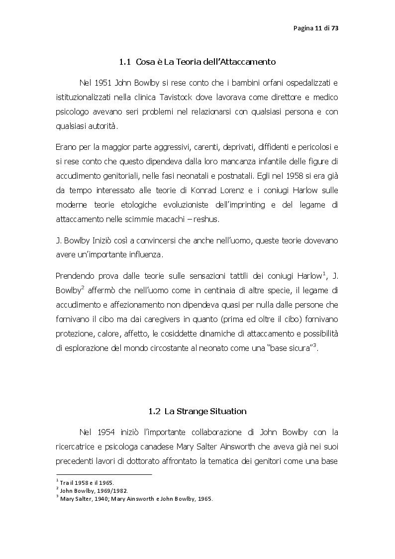 Anteprima della tesi: Pattern di attaccamento, disturbi psichiatrici e la psicoterapia sistemico relazionale, Pagina 6