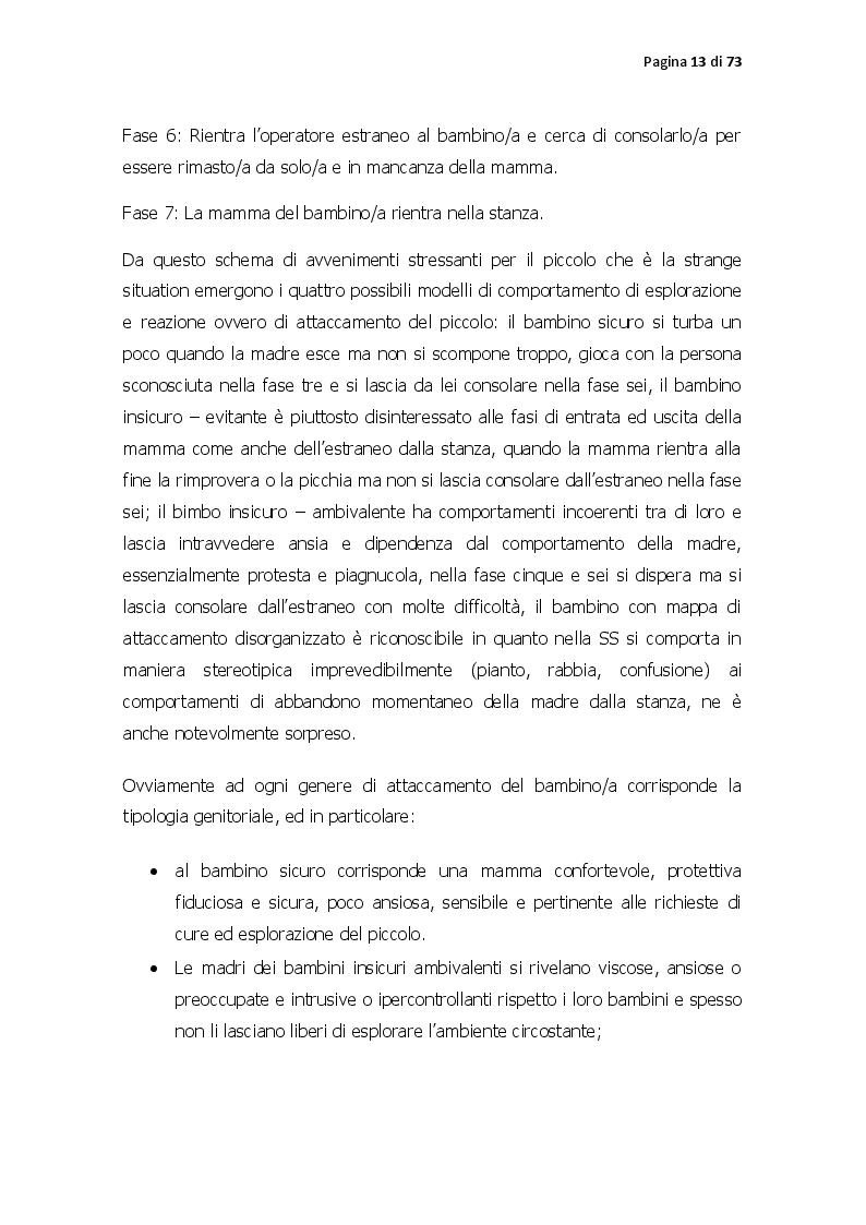 Anteprima della tesi: Pattern di attaccamento, disturbi psichiatrici e la psicoterapia sistemico relazionale, Pagina 8