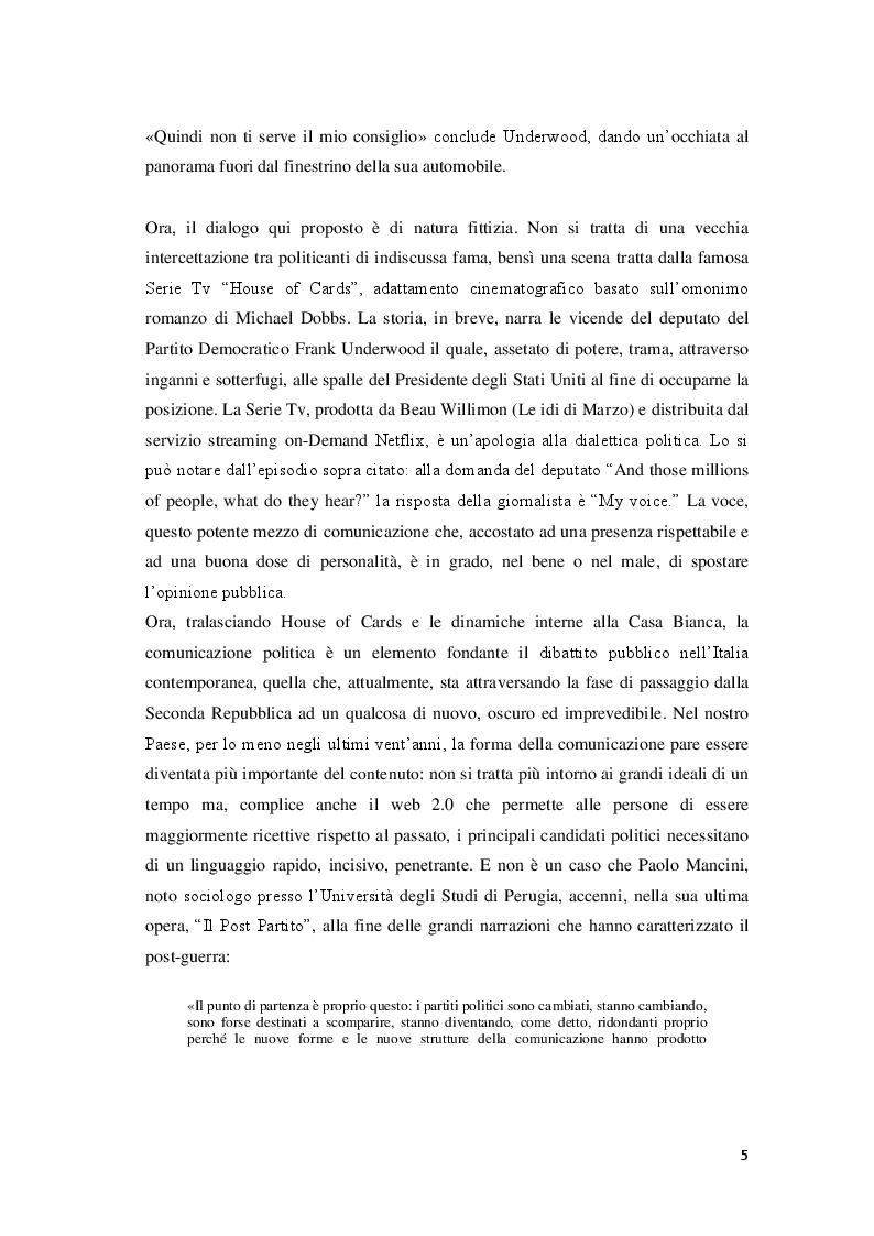 Anteprima della tesi: Marketing Politico: dai partiti nazionali alle amministrative di Milano, Pagina 3
