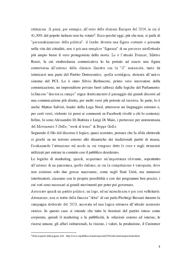 Anteprima della tesi: Marketing Politico: dai partiti nazionali alle amministrative di Milano, Pagina 5