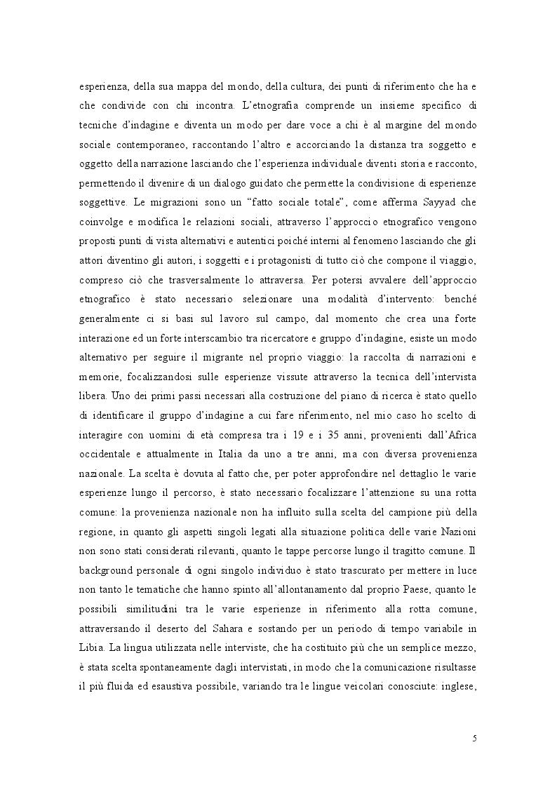 Anteprima della tesi: Libia come spazio di transito: la complessità del percorso migratorio, Pagina 3