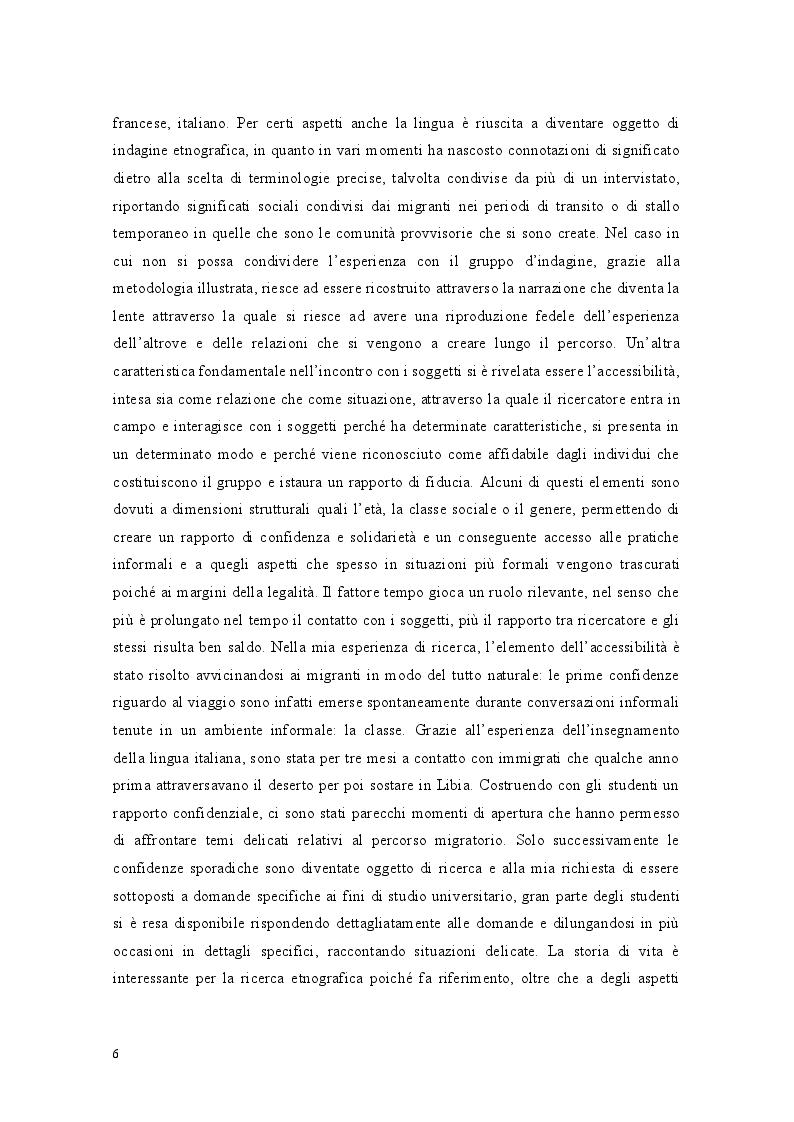 Anteprima della tesi: Libia come spazio di transito: la complessità del percorso migratorio, Pagina 4