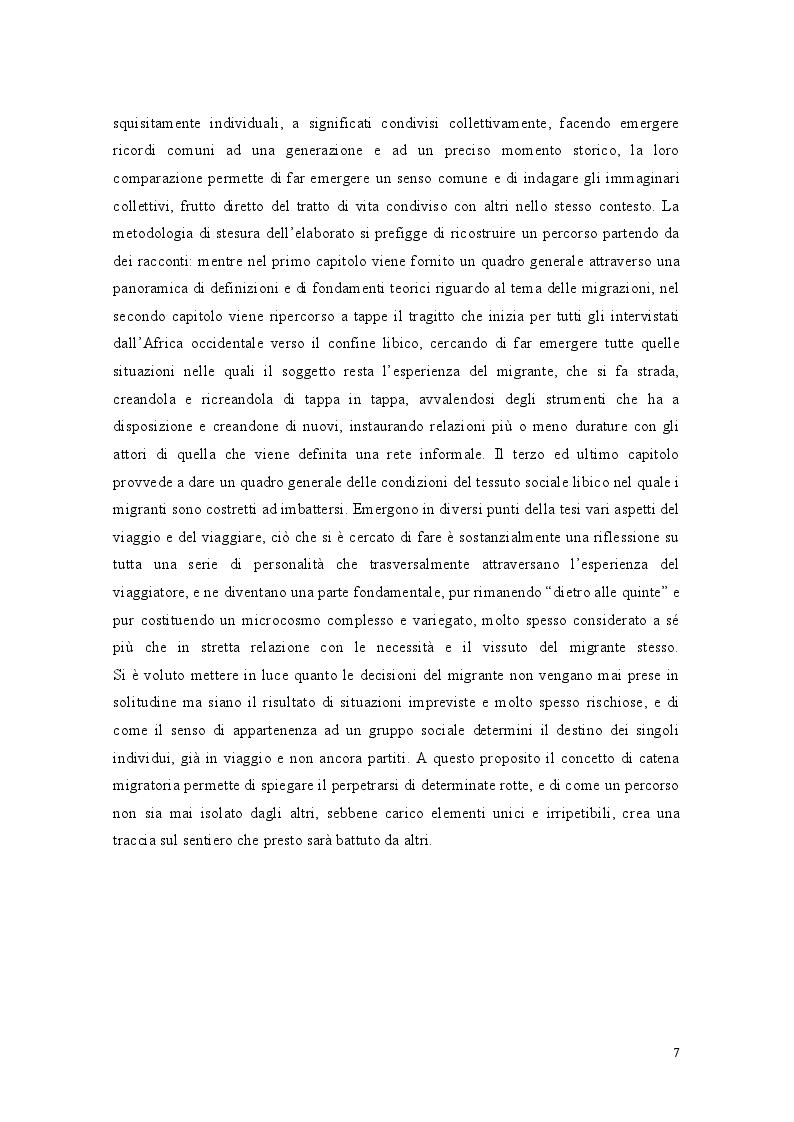 Anteprima della tesi: Libia come spazio di transito: la complessità del percorso migratorio, Pagina 5