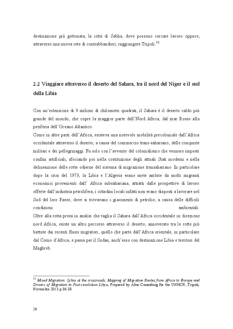 Anteprima della tesi: Libia come spazio di transito: la complessità del percorso migratorio, Pagina 9