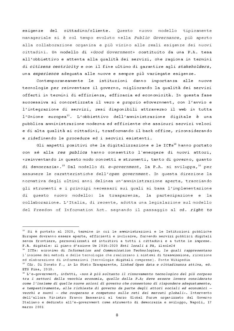 Anteprima della tesi: Pubblica amministrazione innovativa: Blockchain e prospettive di utilizzo , Pagina 5