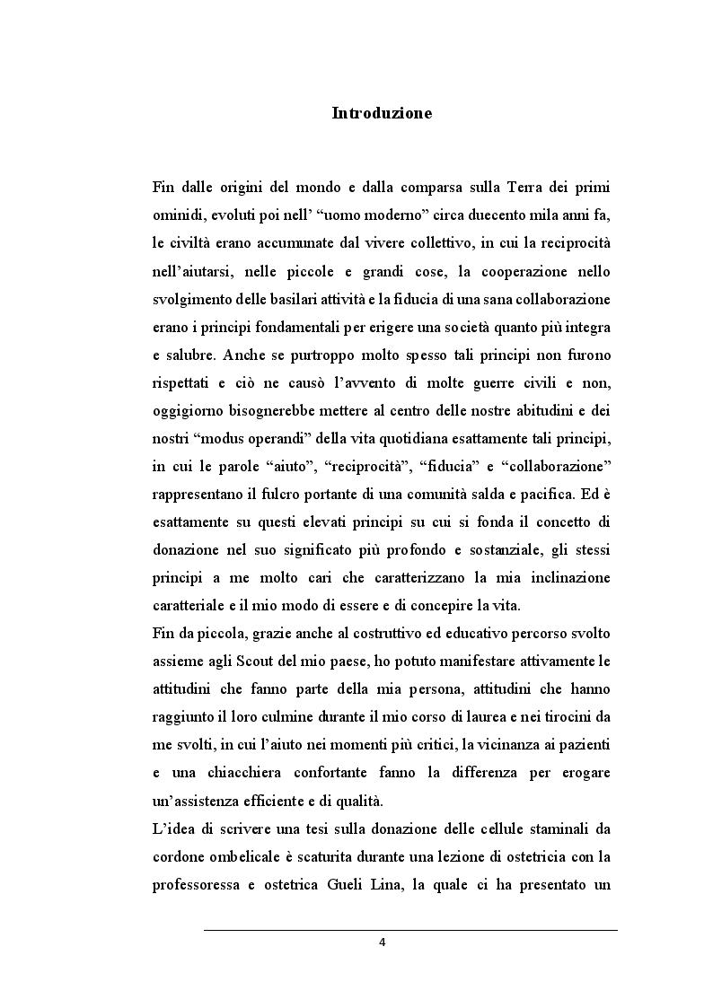 Anteprima della tesi: La donazione delle cellule staminali da cordone ombelicale: un gesto che salva la vita, Pagina 2