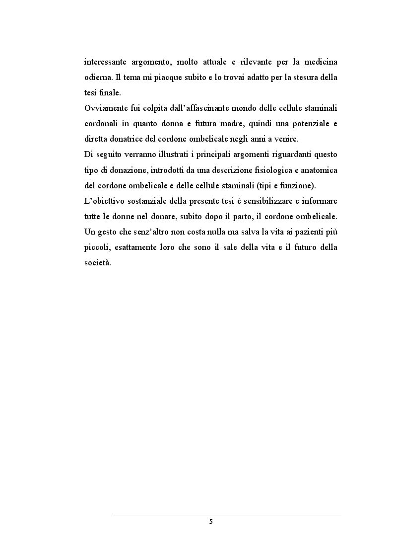 Anteprima della tesi: La donazione delle cellule staminali da cordone ombelicale: un gesto che salva la vita, Pagina 3