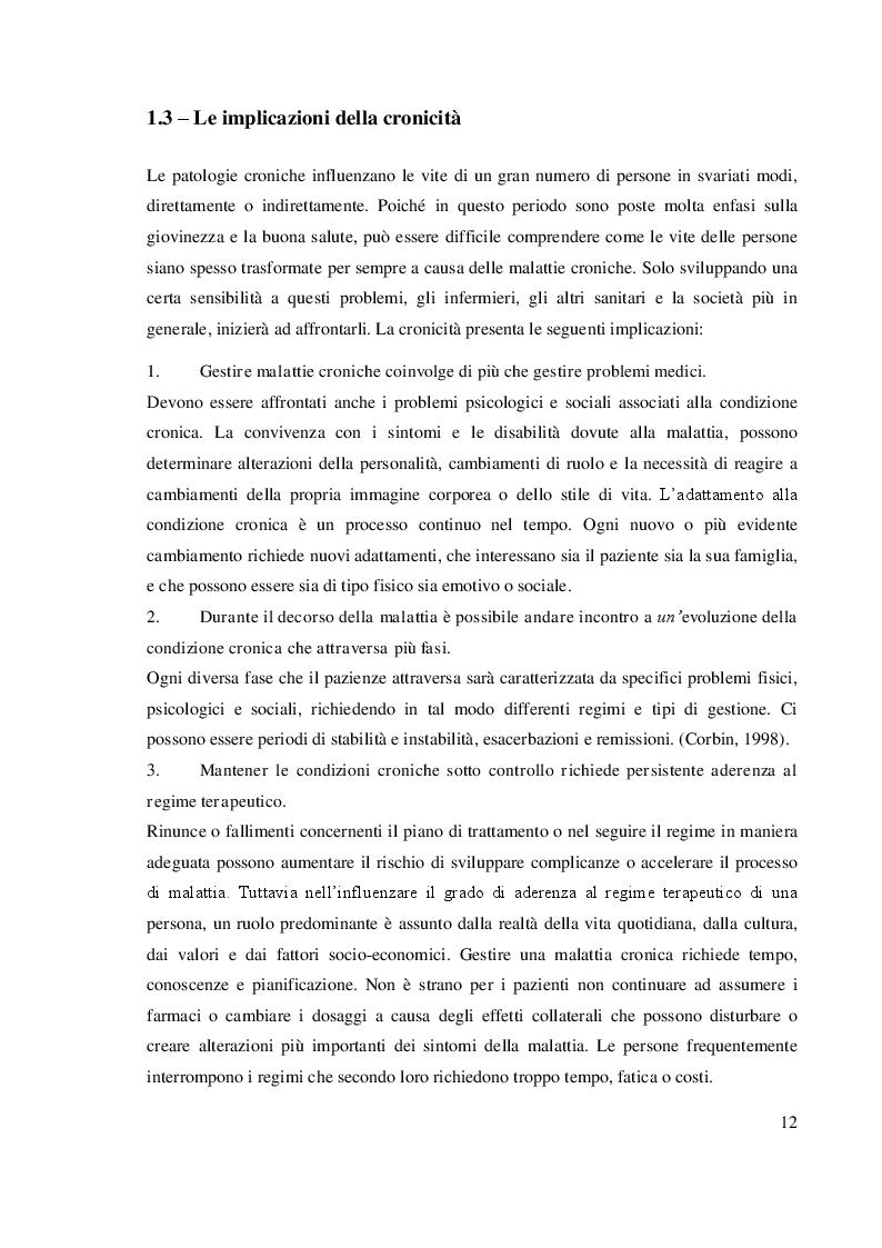 Anteprima della tesi: Chronic Care Model: un approccio assistenziale integrato, Pagina 2