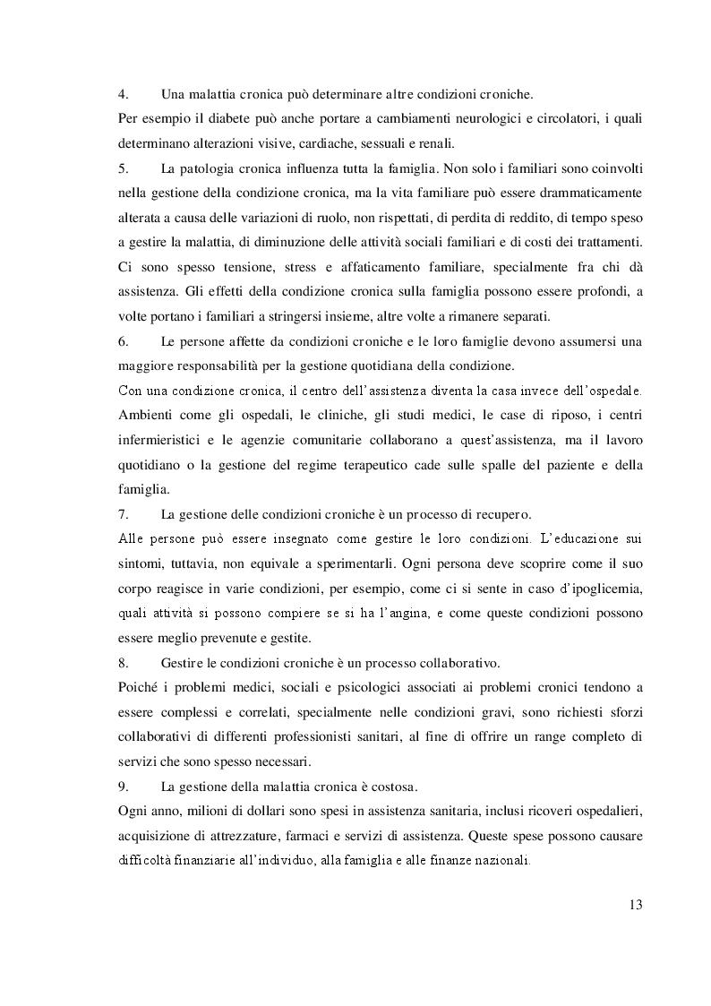 Anteprima della tesi: Chronic Care Model: un approccio assistenziale integrato, Pagina 3