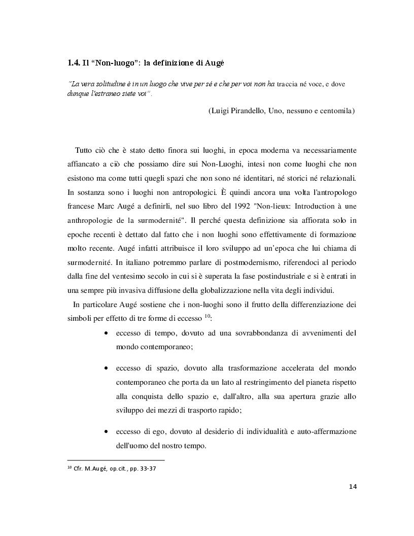 Anteprima della tesi: Luoghi e Non-Luoghi, espressioni della cultura. Da Napoli a Nola, Pagina 2