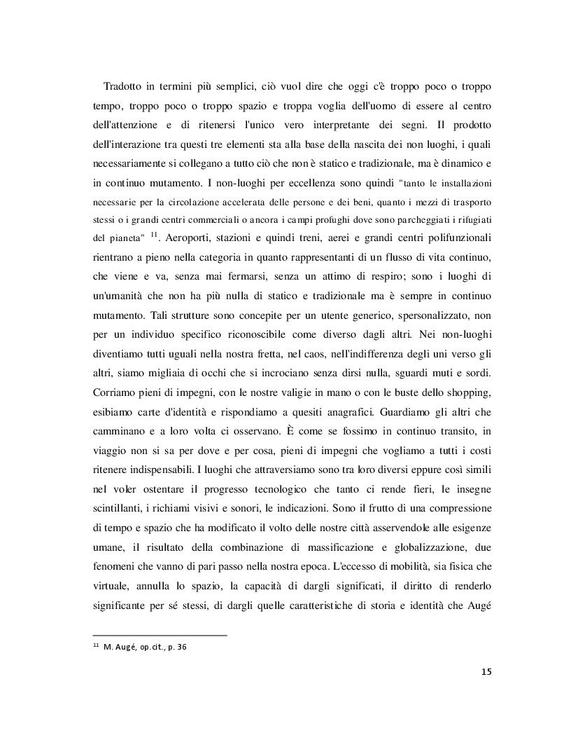 Anteprima della tesi: Luoghi e Non-Luoghi, espressioni della cultura. Da Napoli a Nola, Pagina 3