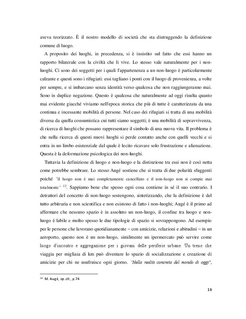 Anteprima della tesi: Luoghi e Non-Luoghi, espressioni della cultura. Da Napoli a Nola, Pagina 4