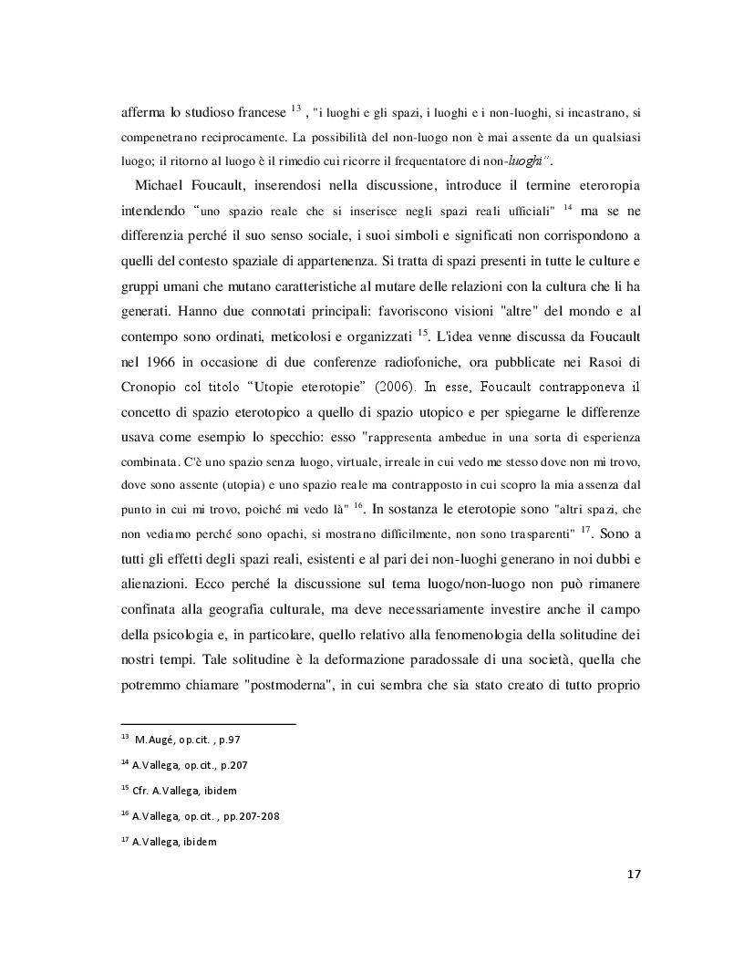 Anteprima della tesi: Luoghi e Non-Luoghi, espressioni della cultura. Da Napoli a Nola, Pagina 5