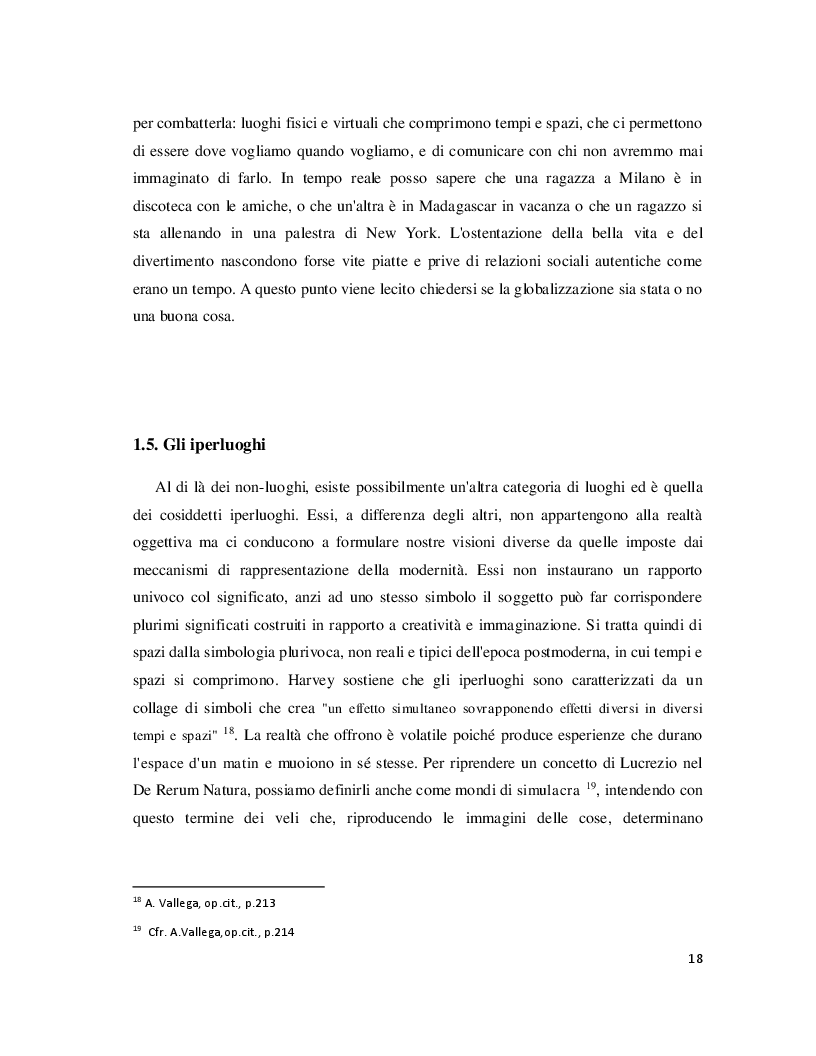 Anteprima della tesi: Luoghi e Non-Luoghi, espressioni della cultura. Da Napoli a Nola, Pagina 6