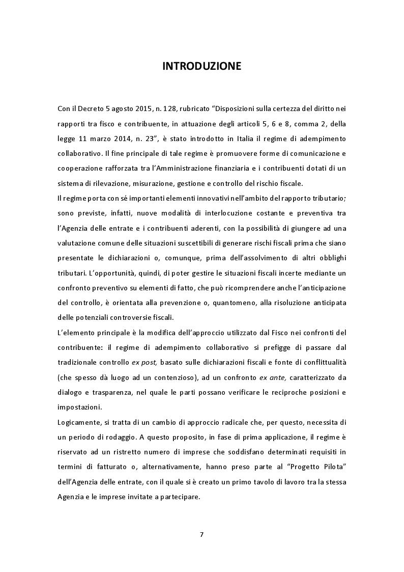 Anteprima della tesi: Il nuovo regime di adempimento collaborativo, Pagina 2