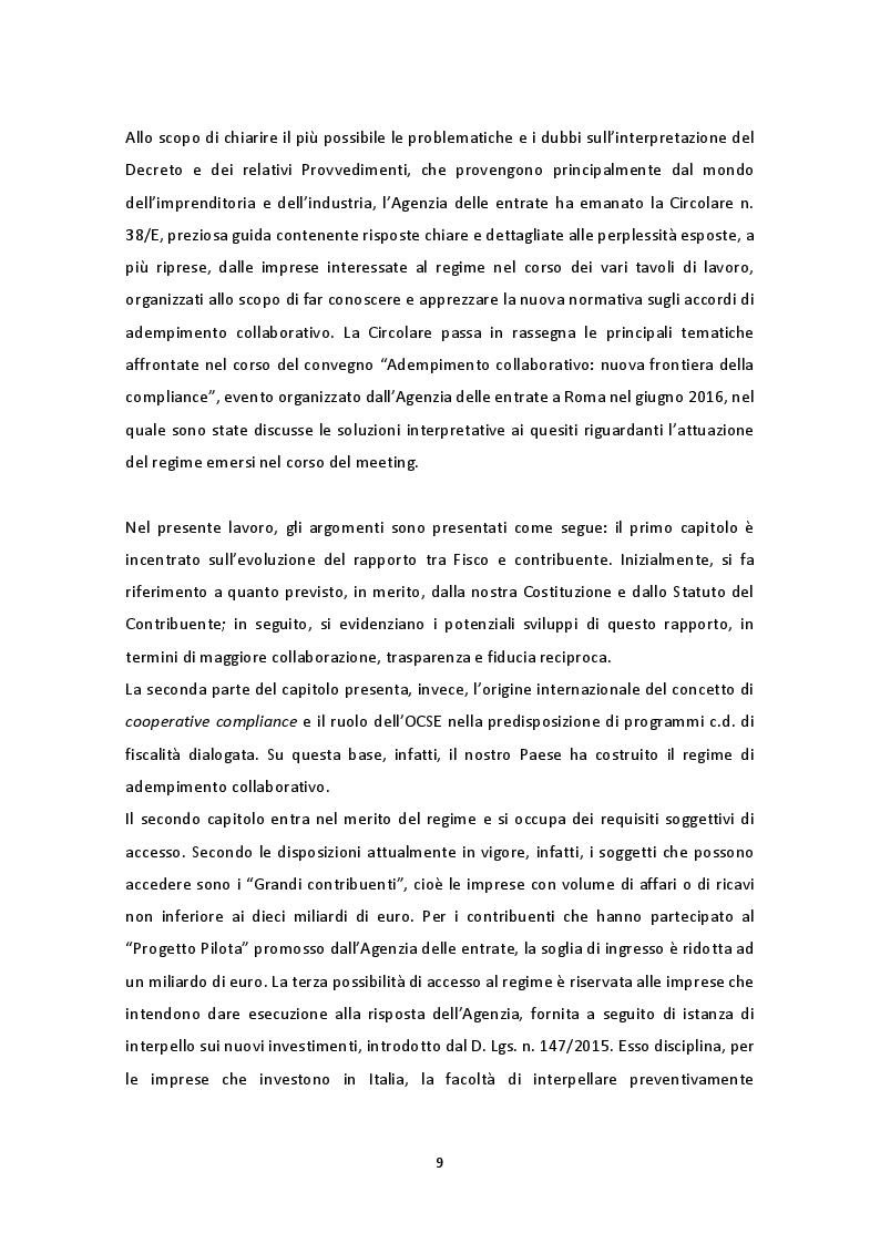 Anteprima della tesi: Il nuovo regime di adempimento collaborativo, Pagina 4