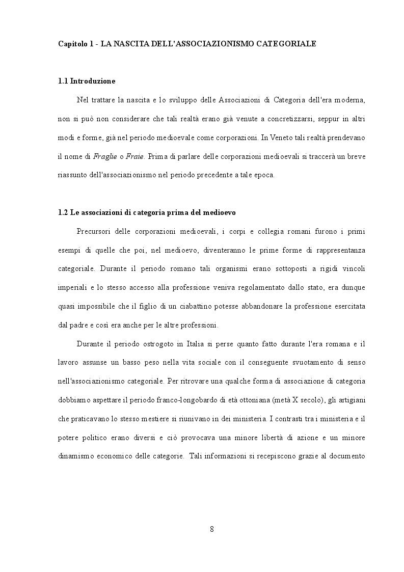 Anteprima della tesi: Storia delle principali e più rappresentative associazioni di categoria italiane, Pagina 5