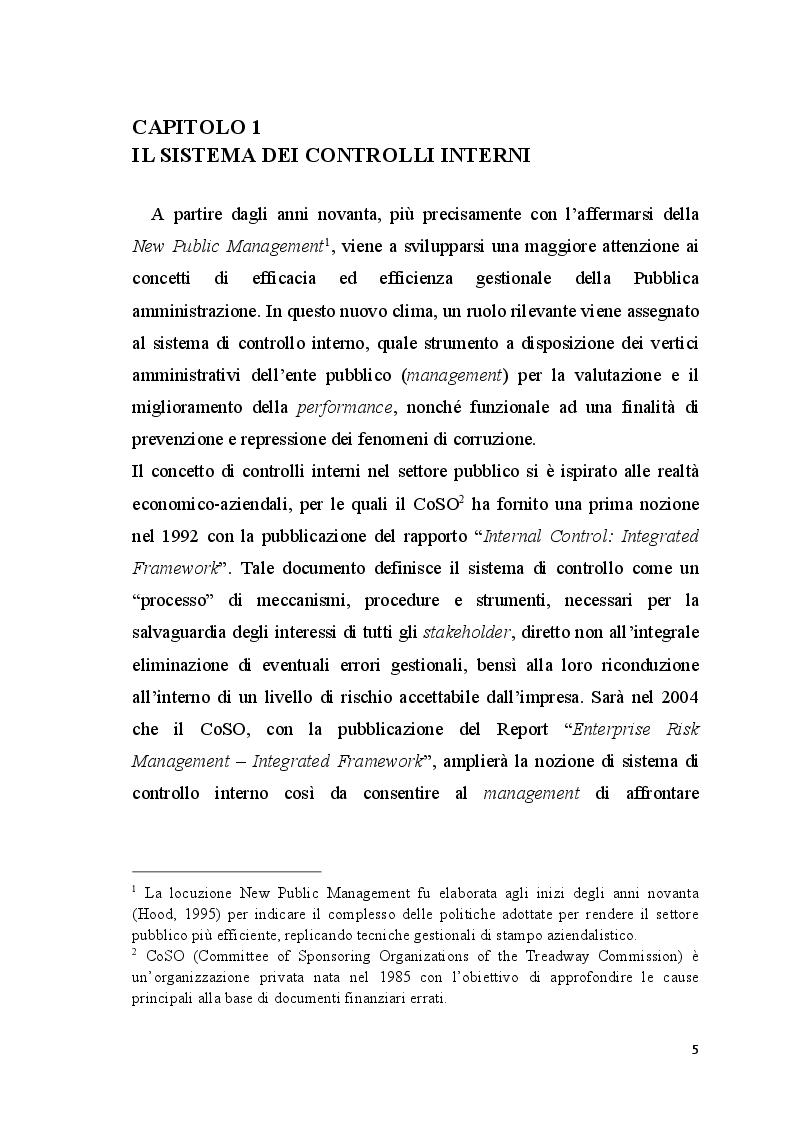 Anteprima della tesi: La gestione dei rischi nelle amministrazioni pubbliche, Pagina 2