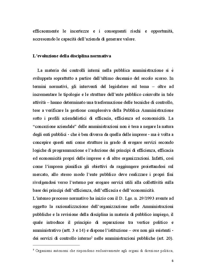 Anteprima della tesi: La gestione dei rischi nelle amministrazioni pubbliche, Pagina 3