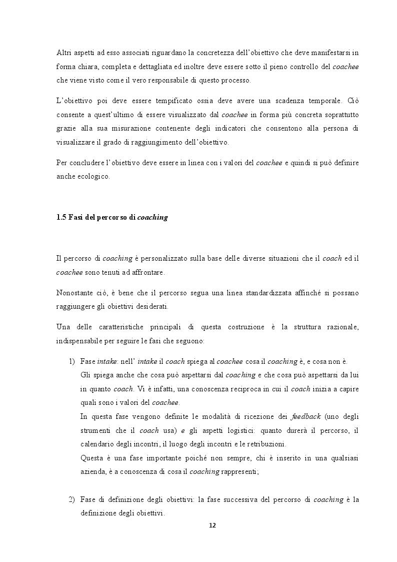Estratto dalla tesi: Analisi del coaching e suo contributo nel processo di selezione del personale