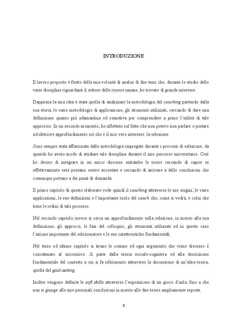 Anteprima della tesi: Analisi del coaching e suo contributo nel processo di selezione del personale, Pagina 2