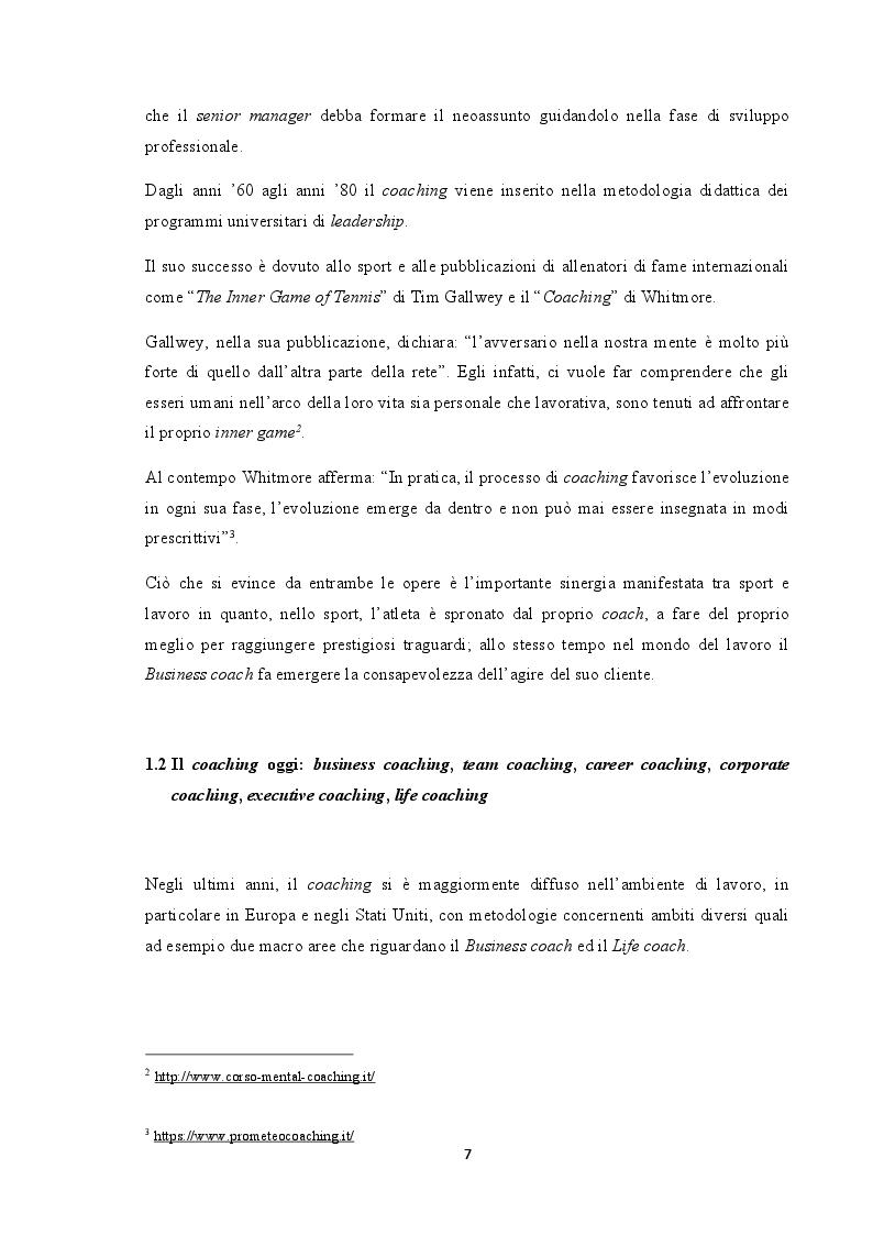 Anteprima della tesi: Analisi del coaching e suo contributo nel processo di selezione del personale, Pagina 4