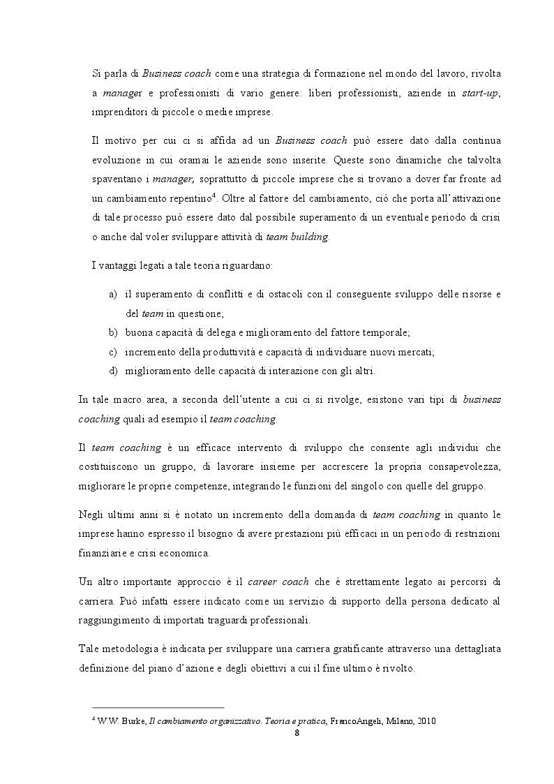Anteprima della tesi: Analisi del coaching e suo contributo nel processo di selezione del personale, Pagina 5