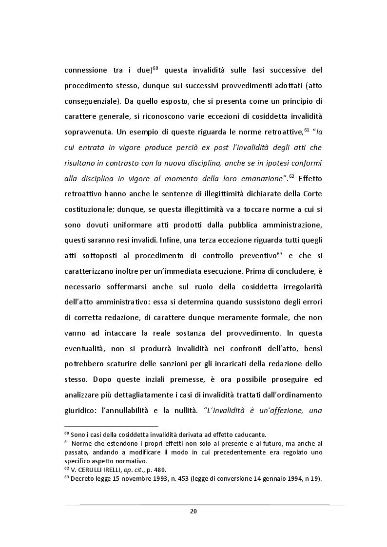 Estratto dalla tesi: L'Atto Amministrativo: Vizi e Rimedi