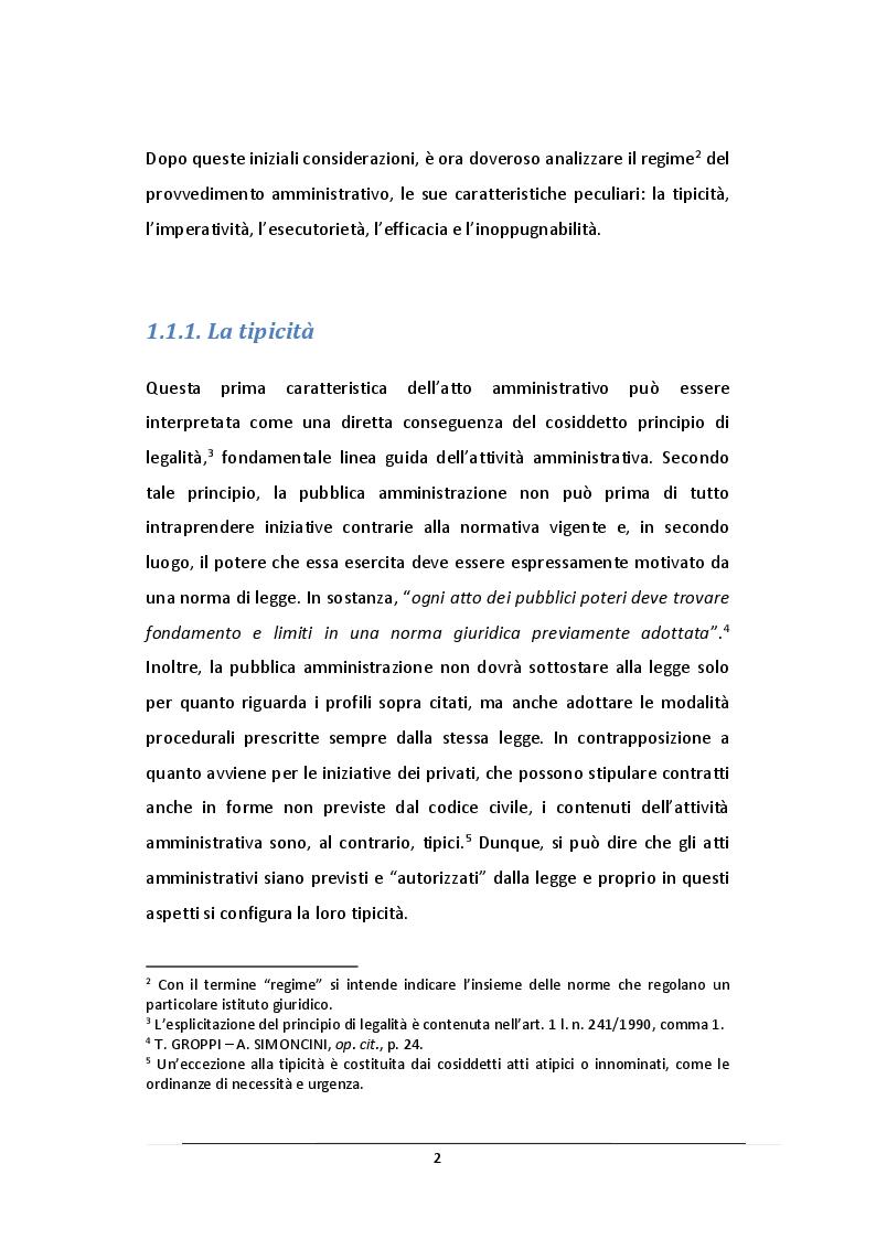 Anteprima della tesi: L'Atto Amministrativo: Vizi e Rimedi, Pagina 3