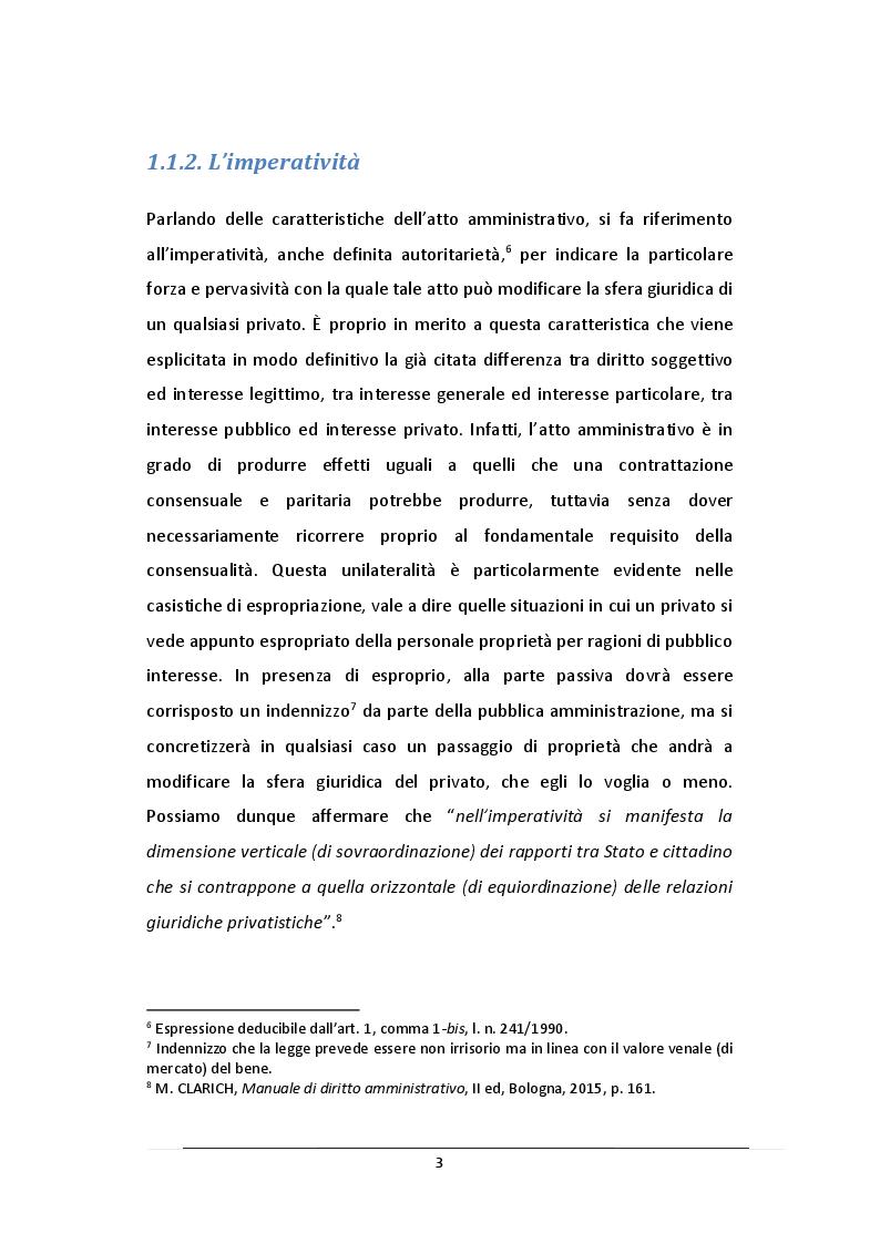 Anteprima della tesi: L'Atto Amministrativo: Vizi e Rimedi, Pagina 4
