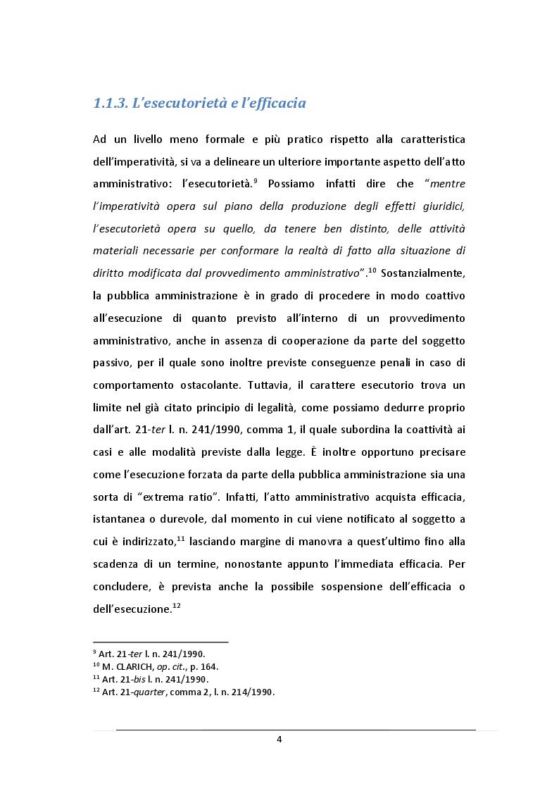 Anteprima della tesi: L'Atto Amministrativo: Vizi e Rimedi, Pagina 5