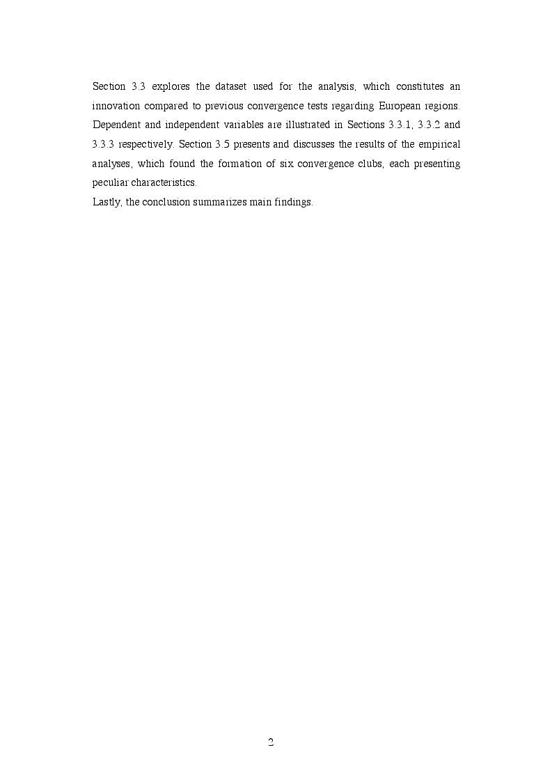 Anteprima della tesi: EU Cohesion Policy and new convergence clubs, Pagina 3