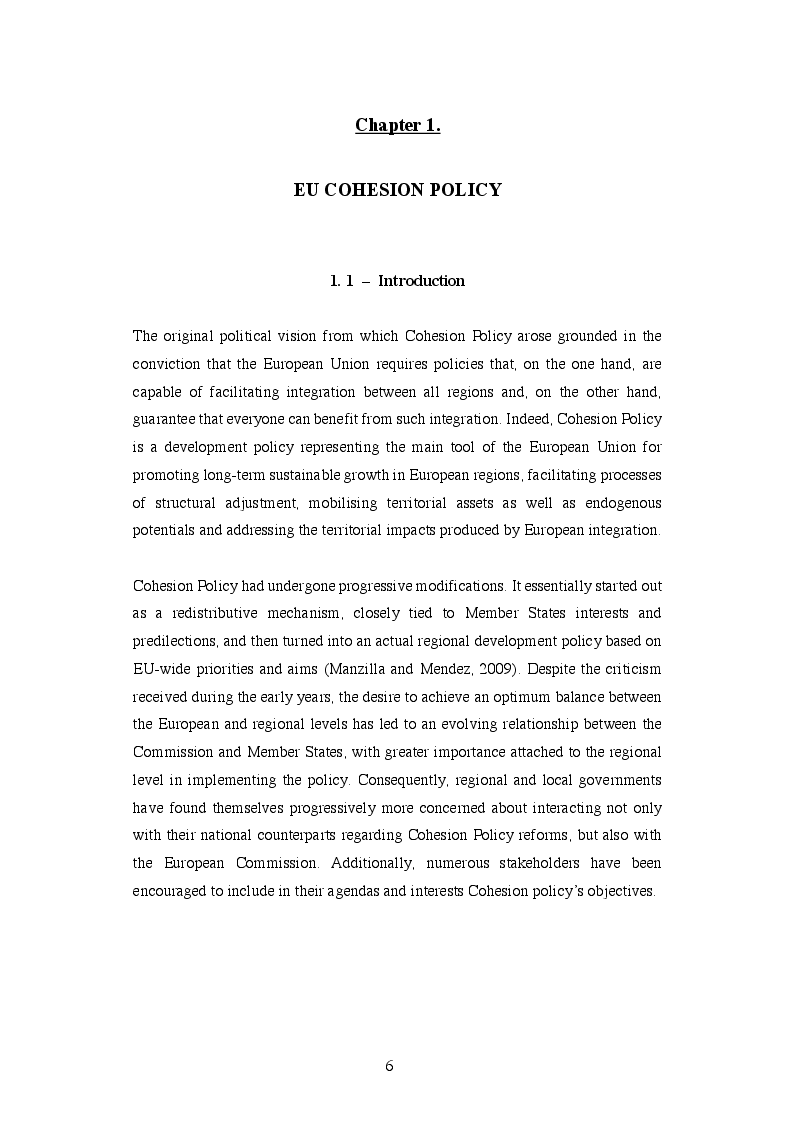 Anteprima della tesi: EU Cohesion Policy and new convergence clubs, Pagina 4
