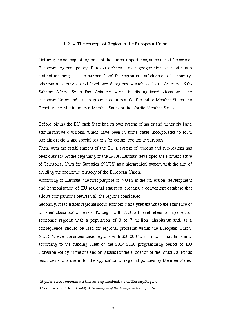 Anteprima della tesi: EU Cohesion Policy and new convergence clubs, Pagina 5