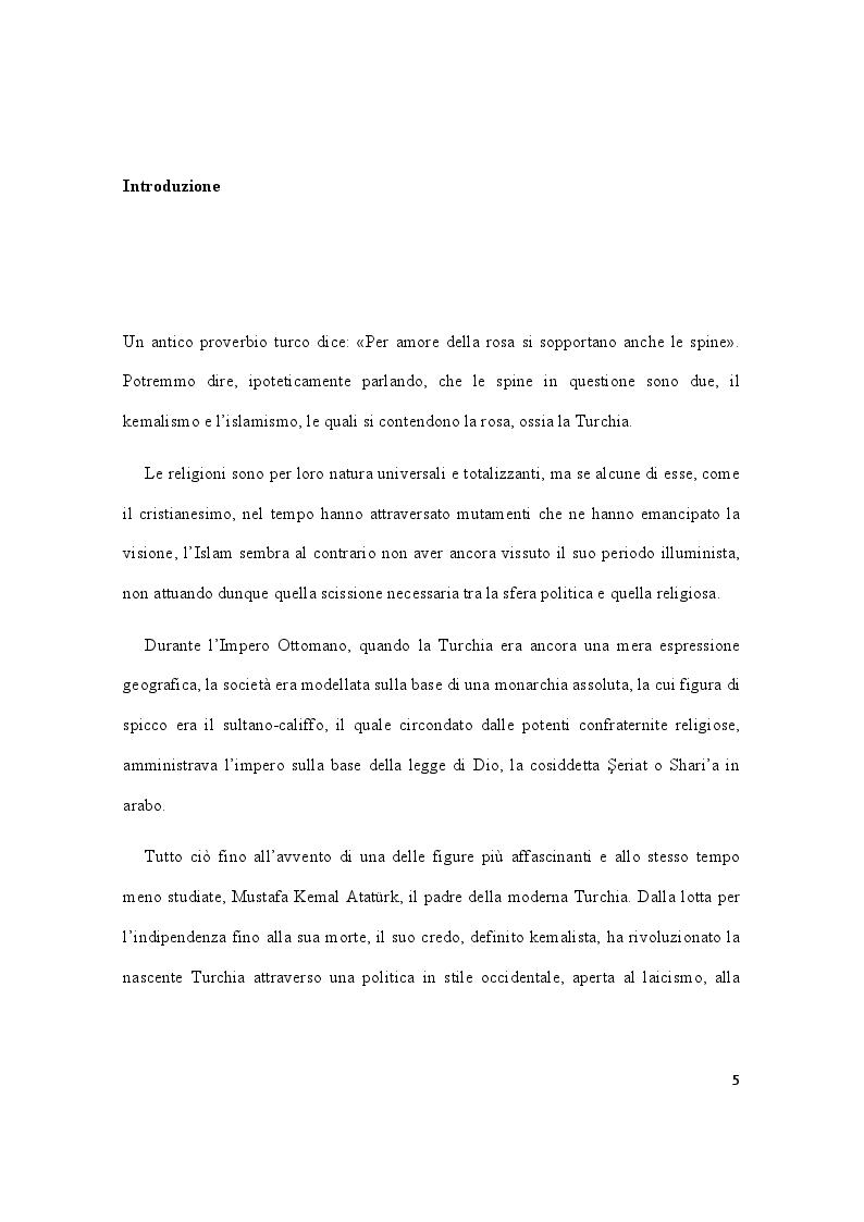 Anteprima della tesi: Storia della Turchia tra laicismo e islamizzazione, Pagina 2