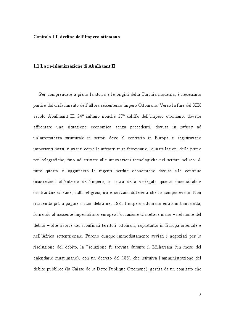 Anteprima della tesi: Storia della Turchia tra laicismo e islamizzazione, Pagina 4