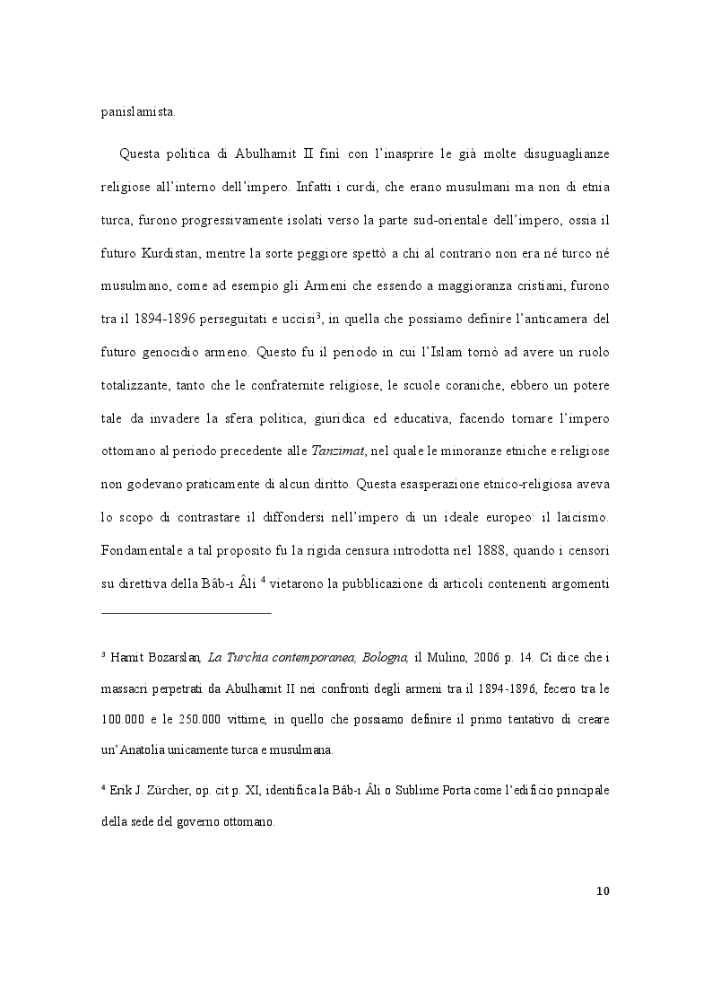 Anteprima della tesi: Storia della Turchia tra laicismo e islamizzazione, Pagina 7